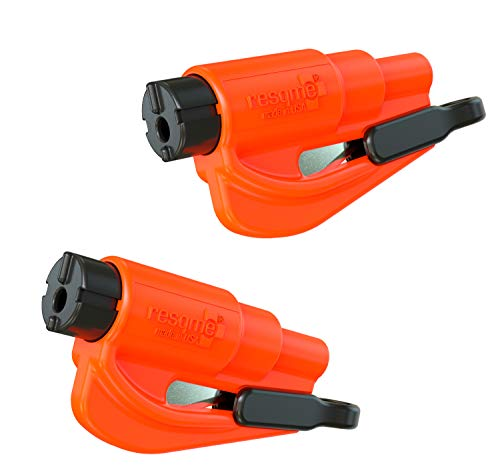 resqme The Original Keychain Car Escape Tool, Made in USA (Orange) - Pack of ()