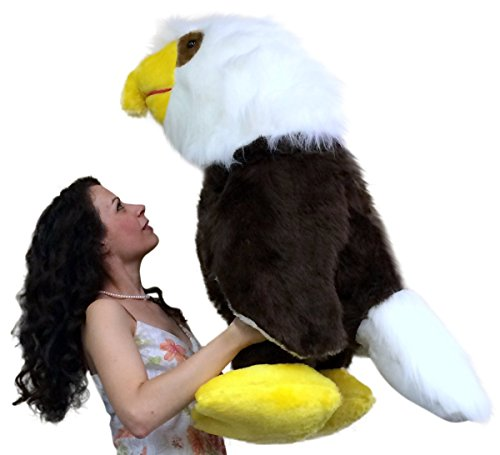 american-made-3-foot-giant-stuffed-eagle-36-inch-soft-brown-big-plush-bird-made-in-usa