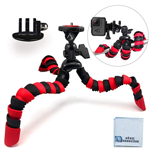 12' Inch Flexible Tripod w/ Wrapable Legs. Quick Release Plate for...