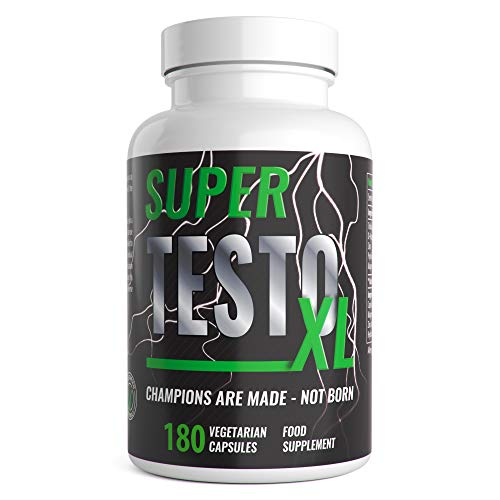 Super Testo XL 180 Vegetarian Capsules 3 Month Supply UK Manufactured from...