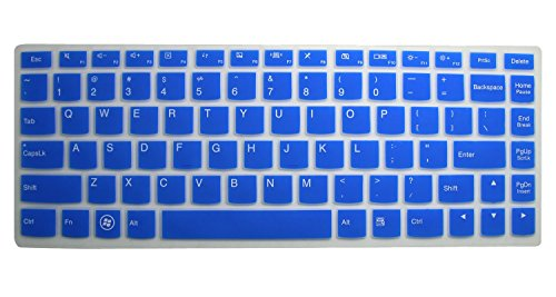 Silicone Keyboard Protector Touch Screen Semi Blue