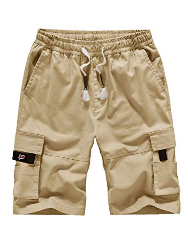 - APTRO Men's Cargo Shorts Relaxed Fit Multi-Pockets Casual Cotton Cargo Short Khaki L