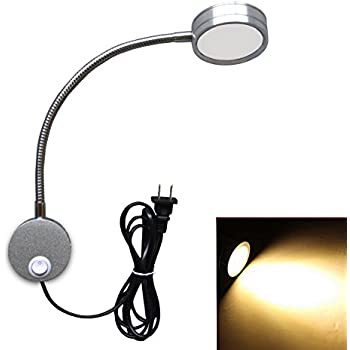 Exceptional Flexible LED Wall Lamp, 5W Gooseneck Wall Mount Sconce Reading Light With  Switch And Plug