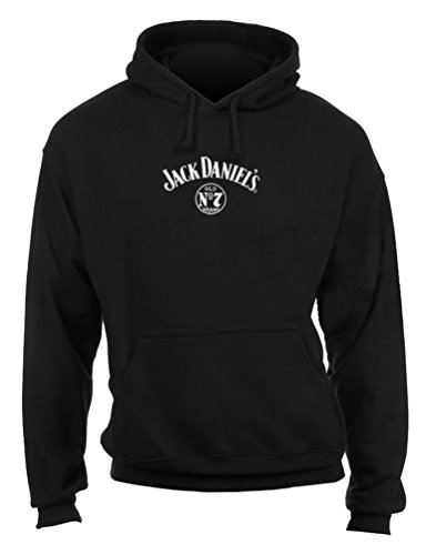 JACK DANIEL'S Men's Daniel's Logo Hooded Sweatshirt Black...