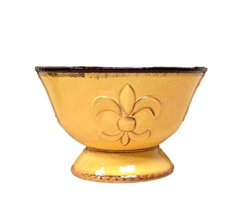 Tuscany Fleur De Lis Pedestal Fruit Bowl Color: (Garden Fruit Bowl)