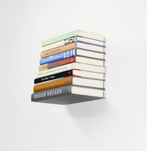 Amazon.com: Umbra Conceal Floating Bookshelf, Small, Silver: Home & Kitchen