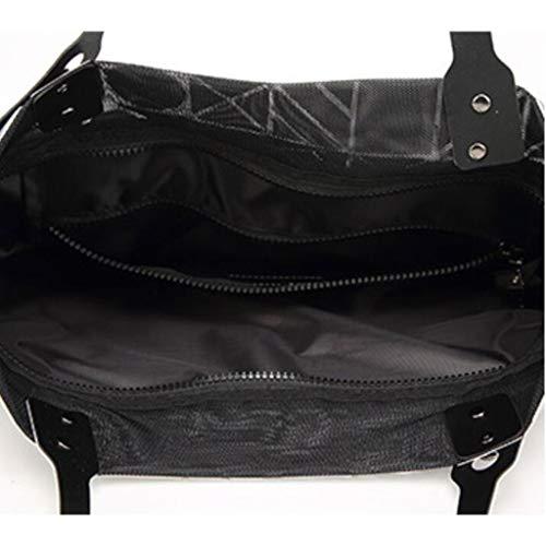 40 colore Geometrica Daypack Dimensioni Gray Casual Selvaggio Messenger 40cm Fashion Bag Handbag Bianca Donne Delle Iq7fS