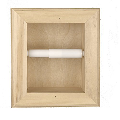 Florida Breeze Cabinets Fairchild in-the Wall Toilet Tissue Holder, Unfinished Bare (Unfinished Pine Kitchen Cabinets)