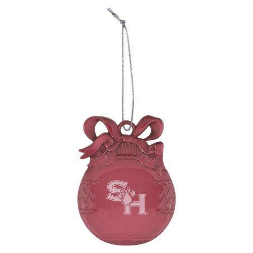 CollegeFanGear SHSU Pink Bulb Ornament 'SH Paw Official Logo Engraved' by CollegeFanGear