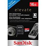 Sandisk Elevate Ultra Performance microSDHC Card with Adapter 16GB