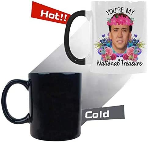Gift For Friends Him Her National Treasure Many Faces Nicholas Cage mug