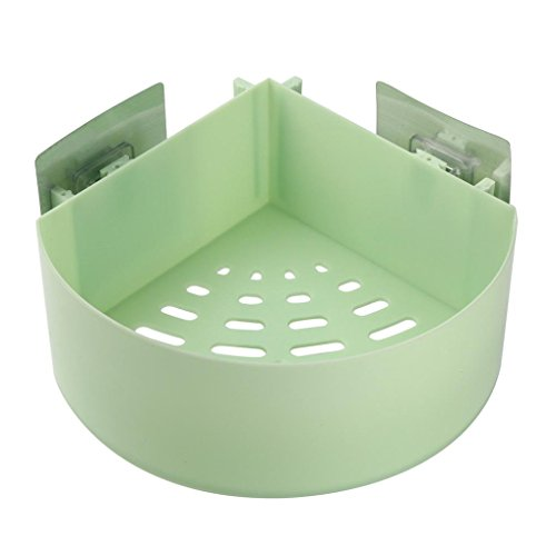 LiPing Bathroom Shelves For Toiletries Shower Gel Practical Type Non-trace Stick Wall Bathroom Accessories Decorations Organizer Shower Shelf (Green, - Dress Abs Bubble