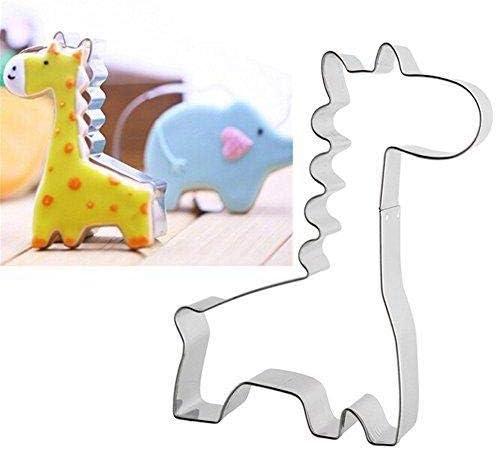 Jeffyo Edelstahl Keks Ausstecher Kuchen Plätzchen Ausstecherform Giraffe