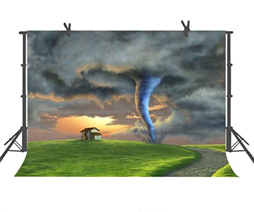 Fairy Tale Tornado Backdrop Cartoon Photography Backdrops 9FTX6FT Children Background for Birthday Party Kids Adult Portrait Photo Studio Props Newborn Infant Shower or YouTube Backdrop 9X6STFBA1]()
