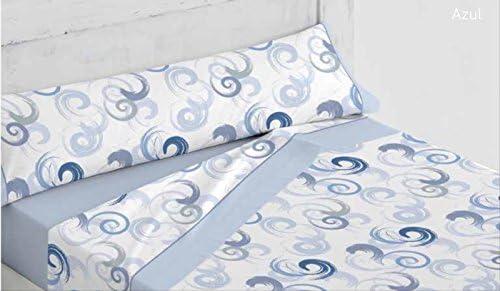 Platinum ForenTex - Juego de sábanas, (L-Andrea Azul), Estampadas, Cama de 135 cm. - 50% algodón - 50% Poliéster - 144 Hilos: Amazon.es: Hogar
