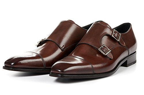 The Burton Double Monk Strap with Cap Toe - (Burton Cap Strap)