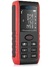 Télémètre laser 40m InLife Mesure laser portable avec écart maximum 2mm, Multimètre Numérique, Support Distance/Superficie/Volumétrie/Pythagoras, Conversion d'unité mètre/pied/pouce, IP54 Imperméable