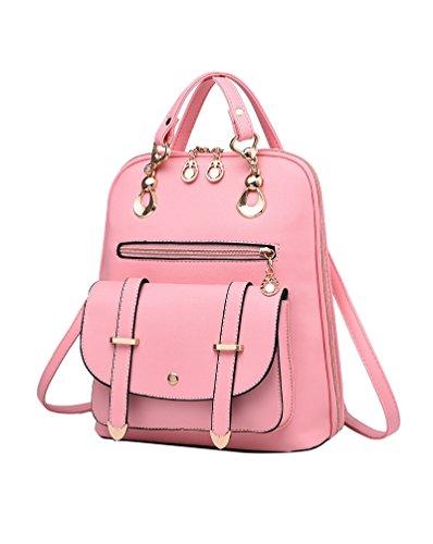 CHENGYANG Mädchen Classic Schultertasche Rucksack Für Outdoor Elegent Multifunktionales Handtaschen Pink NATDuR