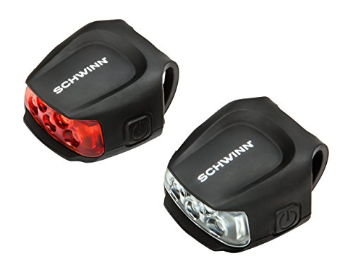 Schwinn 26 Lumen Quick Wrap Front & Rear Light Set, Black