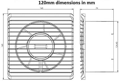 Low Energy Silent Kitchen Bathroom Extractor Fan 125mm with off Delay Timer Ventilation Extraction