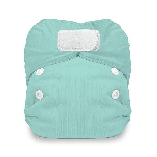 - Thirsties Natural Newborn All in One Cloth Diaper, Hook & Loop Closure, Aqua (5-14 lbs)