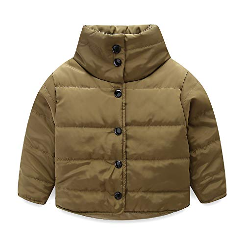 Mud Kingdom Little Boys Jackets Winter Coat Quilted Lightweight 4T Army Green by Mud Kingdom