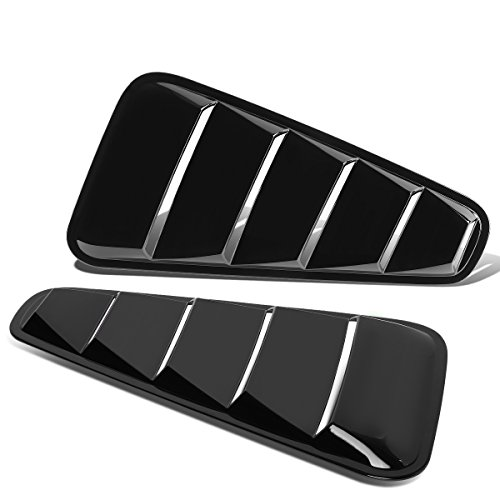 Ford Mustang ABS Plastic Side Vent Quarter Window Louvers Visor Scoop (Glossy Black) - 4th gen