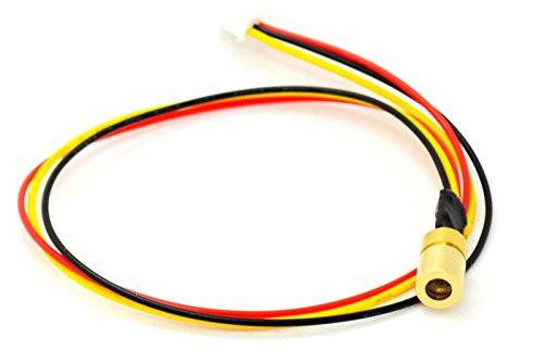 Yellow Laser Diode - Adjusted 5V 980nm 30mw Infrared IR Laser Dot Diode Module w/TTL 0-15KHz 8x13mm