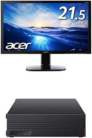 BUFFALO 外付けハードディスク 4TB テレビ録画/PC/PS4/4K対応 HD-AD4U3 + Acer モニター ディスプレイ KA220HQbmidx 21.5インチ HDMI端子対応 スピーカー内蔵 ブルーライト軽減