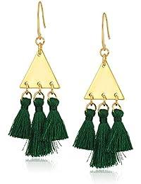 Tri Tassel Chandeliers Drop Earrings