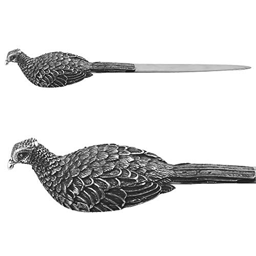 - English Pewter Company Pheasant Handle Pewter Letter Opener [PHS118]