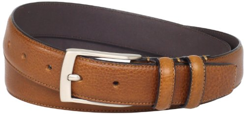 - Florsheim Men's Italian Full Grain Leather Single Stitched Edge 32mm, Cognac, 34
