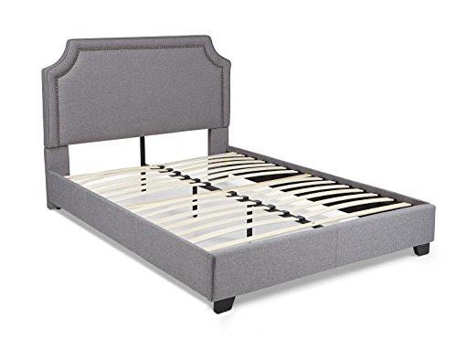 Mantua BRA66MG Brossard Upholstered Platform Bed, King, Grey by Mantua (Image #1)