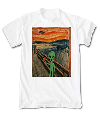 (Riot Society Scream Alien Men's T-Shirt - White,)
