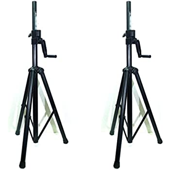 new two 2 lase 201c crank up speaker stand with folding hand crank musical. Black Bedroom Furniture Sets. Home Design Ideas