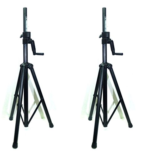 New Two (2) LASE 201C Crank-up Speaker Stand with Folding Hand Crank. by LASE