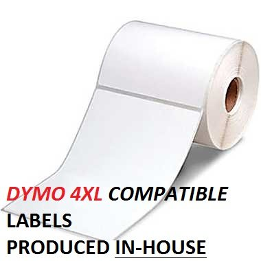 Dymo 1744907 compatible 4x6 4 rolls for Dymo 4x6 labels