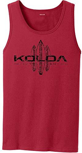 Koloa Vintage Surfboard Logo Tank Top-Red/b-M