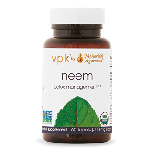 Organic Neem | 60 Herbal Tablets – 500 mg ea. | Natural Blood Purifier | Herbal Supplement for General Well-Being | Promotes Healthy, Glowing Skin