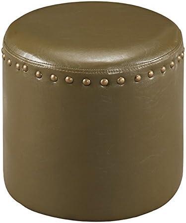 Kings Brand Furniture Nailhead Trim Upholstered Stool Ottoman Green