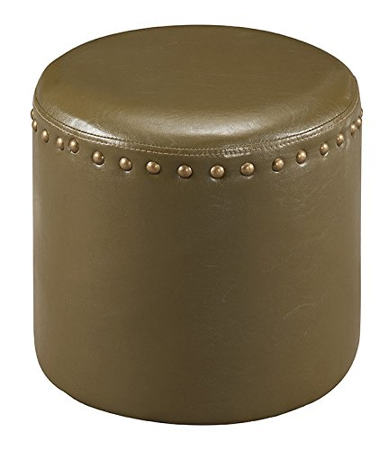 (Kings Brand Furniture Nailhead Trim Upholstered Stool Ottoman (Green))