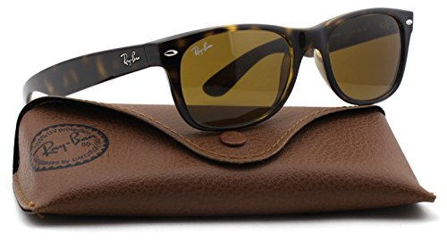 Ray-Ban RB2132 New Wayfarer Classic Unisex Sunglasses (Light Havana Frame/Brown Lens 710, ()