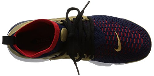 Nike Air Presto Flyknit Ultra, Zapatillas de Running para Hombre Azul (College Navy / Comet Red-Metallic Gold)