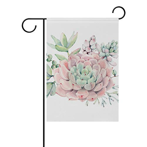 senya Double Sided Yard Garden Flag, Vintage Succulents Home
