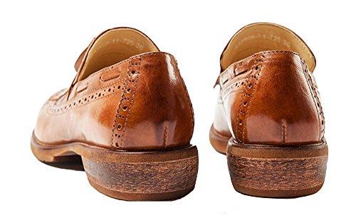 Oxford Womens Oxford Scarpe Oxford Per Donna Wingtip Donna Oxford Wingtip Abito Nero Piatto Marrone Lacci In Pelle Casual Ala Scamosciata Vintage Scarpe Oxford E211 (6 B (m) Us, A)
