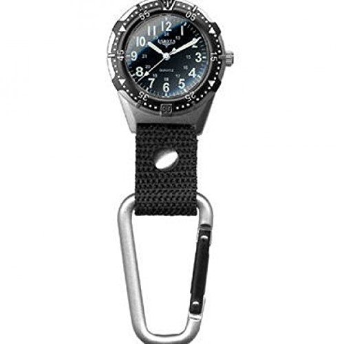 Dakota Watch Company Men's Aluminum Backpacker Clip Watch, Black by Dakota (Image #4)
