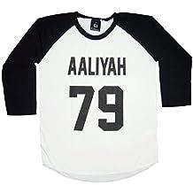 Madness/Esthouse Unisex's Aaliyah 79 Aaliyah Dana Haughton Baseball T-Shirt