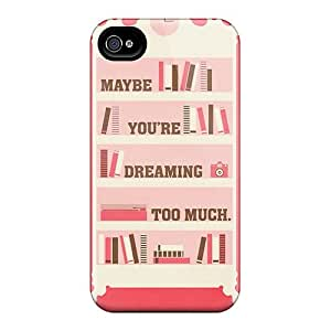 Hot Dreaming Too Much First Grade Tpu Phone Case For Iphone 4/4s Case Cover