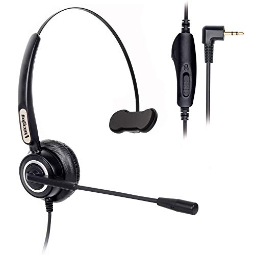 VoiceJoy Telephone Headset with Microphone Wired Phone Headset for  Panasonic Cordless Phones with 2 5mm Jack Plus Many Other DECT Phones  Polycom