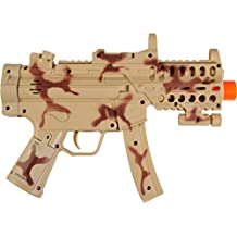 Maxx Action 11.5-Inch Toy Mini Machine Gun with Electronic Sound, Lights, and Vibration, Camo